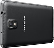 SAMSUNG GALAXY NOTE 3 012 BACK LEFT PERSPECTIVE JET BLACK