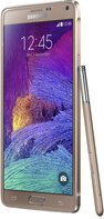 SAMSUNG GALAXY NOTE 4 BRONZE GOLD LEFT-45- DEGREE-PEN 011