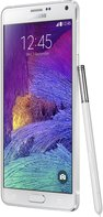 SAMSUNG GALAXY NOTE 4 FROST WHITE LEFT-45-DEGREE-PEN 011