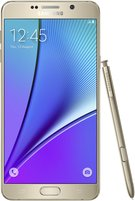 SAMSUNG GALAXY NOTE 5 FRONT WITH SPEN GOLD PLATINUM
