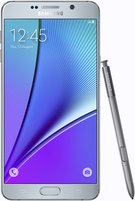 SAMSUNG GALAXY NOTE 5 FRONT WITH SPEN SILVER TITANIUM