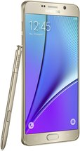 SAMSUNG GALAXY NOTE 5 LEFT WITH SPEN GOLD PLATINUM