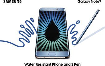 SAMSUNG GALAXY NOTE 7 05 BLUE WATER RESISTANT 2P