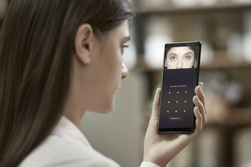 SAMSUNG GALAXY NOTE 8 IRIS SCANNER