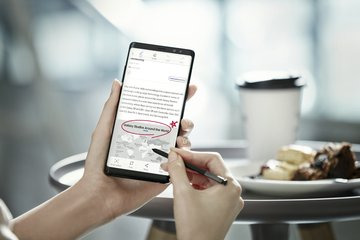 SAMSUNG GALAXY NOTE 8 SCREEN CAPTURE AND WRITE