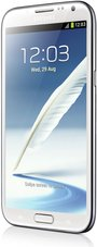 samsung galaxy note ii front right white