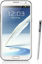 samsung galaxy note ii white front