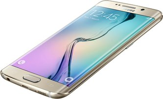 SAMSUNG GALAXY S6 EDGE 014 R-FRONT-DYNAMIC GOLD PLATINUM