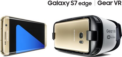 samsung galaxy s7 edge f1 gold gear vr