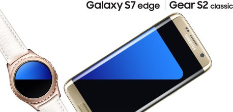SAMSUNG GALAXY S7 EDGE H5 GOLD GEAR S2 CLASSIC ROSEGOLD