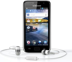 SAMSUNG GALAXY S WIFI 4.0 FRONT WITH HEADSET