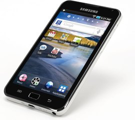 SAMSUNG GALAXY S WIFI 5.0 FRONT ANGLE GOOGLE