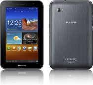 SAMSUNG GALAXY TAB 7.0 PLUS PRODUCT IMAGE FRONT BLACK BACK