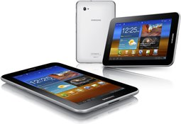 SAMSUNG GALAXY TAB 7.0 PLUS PRODUCT IMAGE VIEWS WHITE BACK