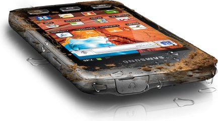 SAMSUNG GALAXY XCOVER DIRTY TOP ANGLE