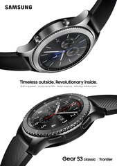 samsung gear s3 frontier classic 1p black