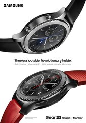 samsung gear s3 frontier classic 1p red