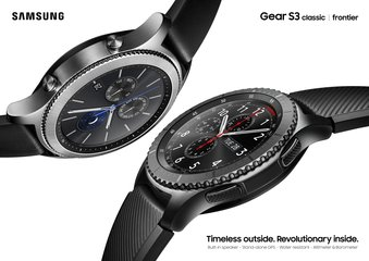 samsung gear s3 frontier classic 2p black