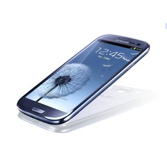 SAMSUNG GT-I9300 GALAXY S III BOTTOM ANGLE BLUE
