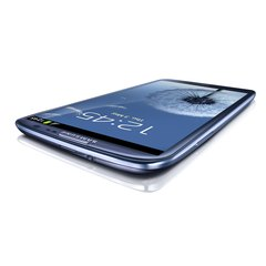 SAMSUNG GT-I9300 GALAXY S III TOP ANGLE BLUE