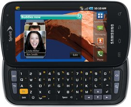 samsung sph-d700 galaxy s epic 4g qwerty front1