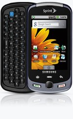 samsung sph-m900 moment phone front