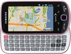 samsung sph-m910 intercept pink qwerty front