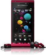 SONY ERICSSON SATIO FRONT WITH HEADSETS BORDEAUX