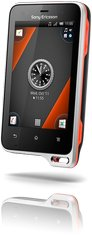 SONY ERICSSON XPERIA ACTIVE FRONT BLACK ORANGE 01