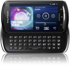 sony ericsson xperia pro front h open black