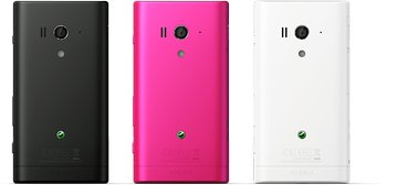 SONY XPERIA ACRO S BACK BLACK PINK WHITE
