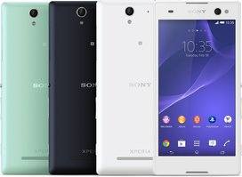 SONY XPERIA C3 GROUP COLOURS FRONT