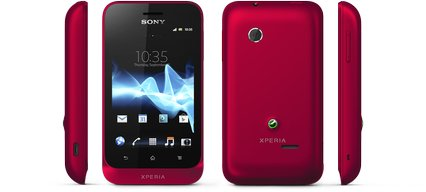 sony xperia tipo views red