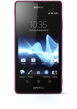 sony xperia tx pink front