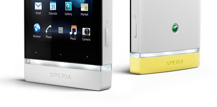 sony xperia u white yellow comparison