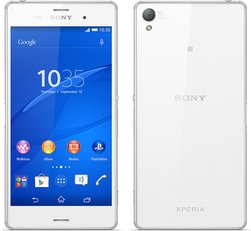 SONY XPERIA Z3 WHITE BACK FRONT