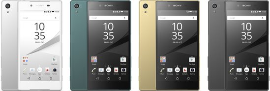 SONY XPERIA Z5 COLOUR RANGE