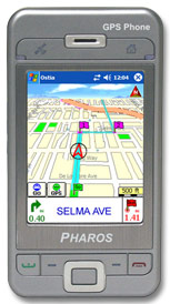 pharos gps phone