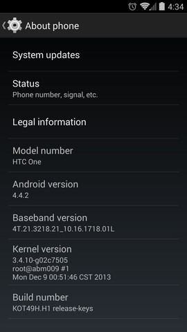 HTC One Nexus Google Play Edition Android 4.4.2 System Update 3.62.1700.1