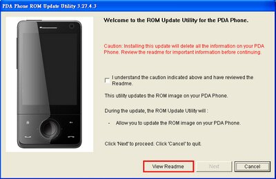 HTC Touch Pro T7272 (HTC Raphael 100) ROM Update 5.05.401.1 R2