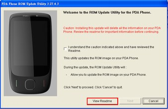 HTC Touch 3G EU ROM Upgrade