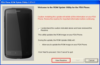 HTC Touch HD ROM Upgrade EU ROM Upgrade 1.56.4xx.x