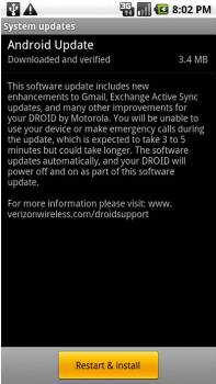 Motorola DROID Android 2.2.2 System Update FRG83G