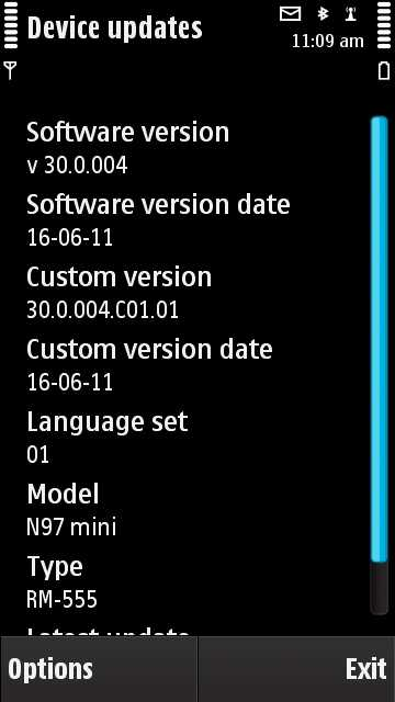Nokia N97 Mini Firmware Update v30.0.004