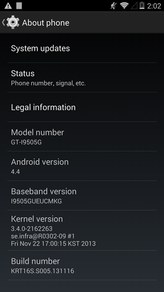 Samsung GT-i9505G Galaxy S4 Google Play Android 4.4 KitKat OTA System Update KRT16S
