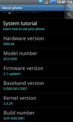 Samsung SCH-I500 Galaxy S Fascinate System OTA Update i500.DI01