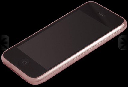 Stuart Hughes iPhone 3GS 18ct Solid Rose Gold Diamond  (Apple iPhone 2,1)