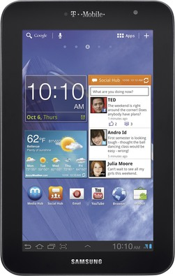 t-mobile samsung galaxy tab 70 plus